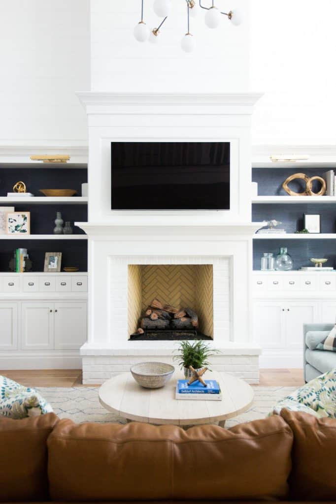 30 Stunning White Brick Fireplace Ideas Part 1