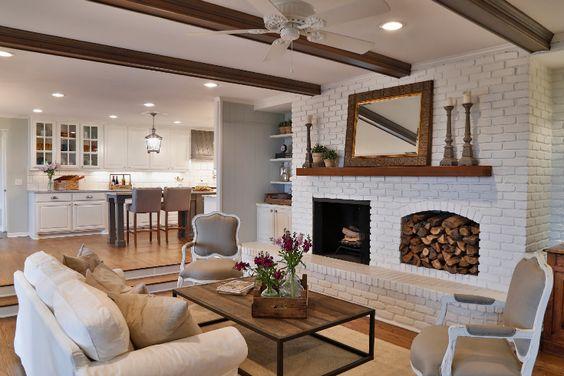 30 Stunning White Brick Fireplace Ideas Part 1