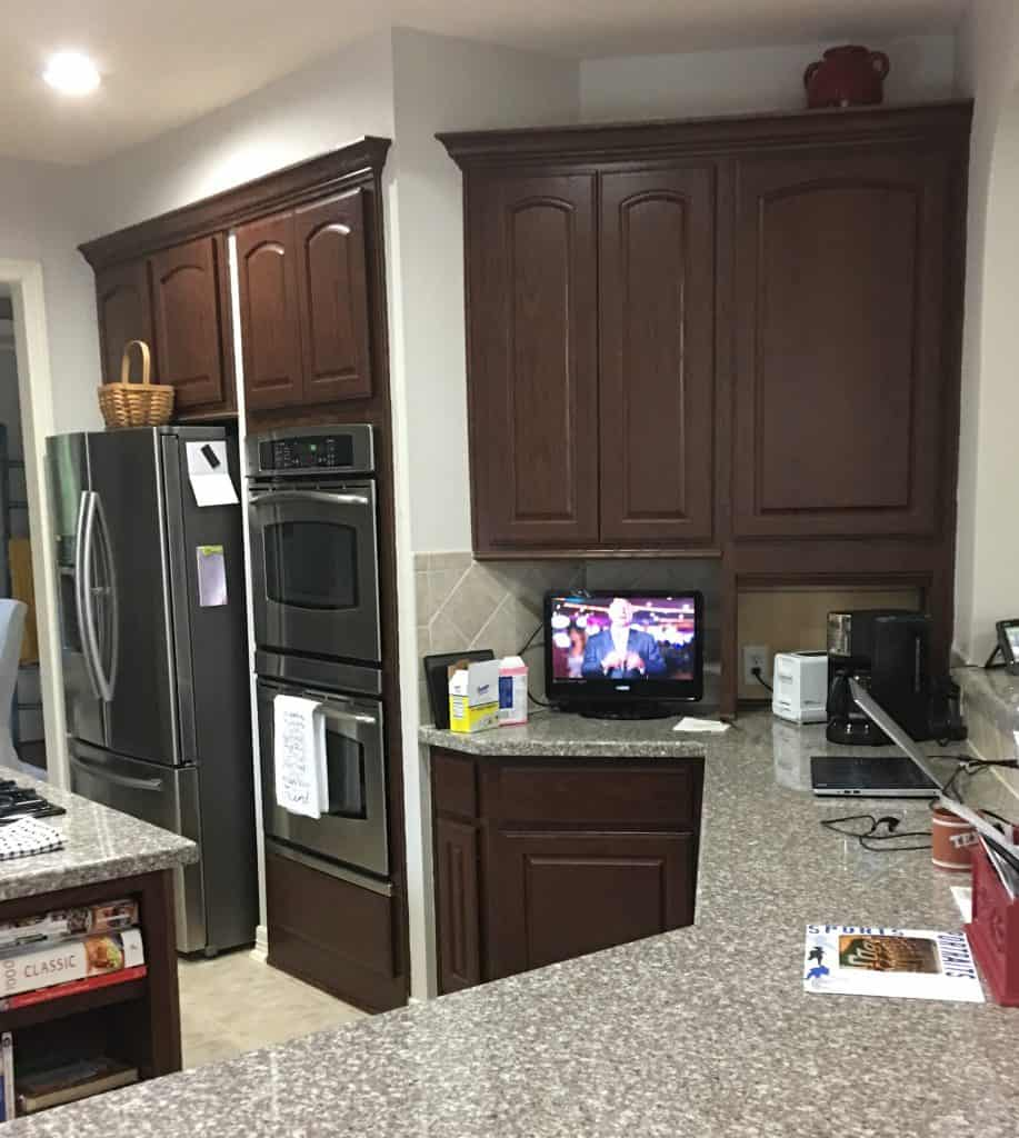 Tips On Painting Kitchen Cabinets: 5 Tips-Painting Dark Kitchen Cabinets White (And The