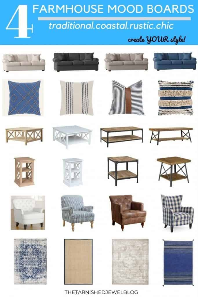 Find Your Style- FOUR Farmhouse Mood Boards