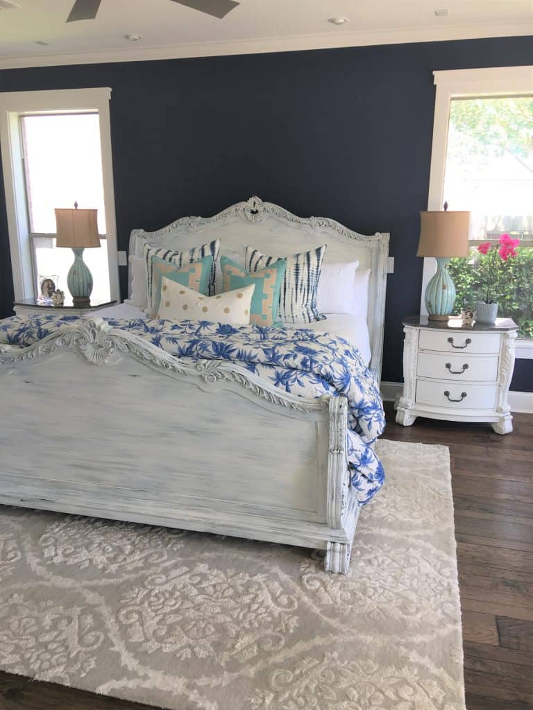 Outstanding Master Bed Frame Makeover Painted White Unemploymentrelief Wooden Chair Designs For Living Room Unemploymentrelieforg