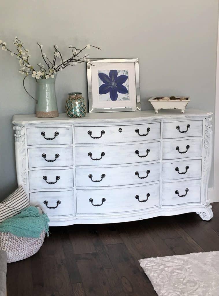 Painting 101 White Washed Dresser, Whitewash Distressed Furniture