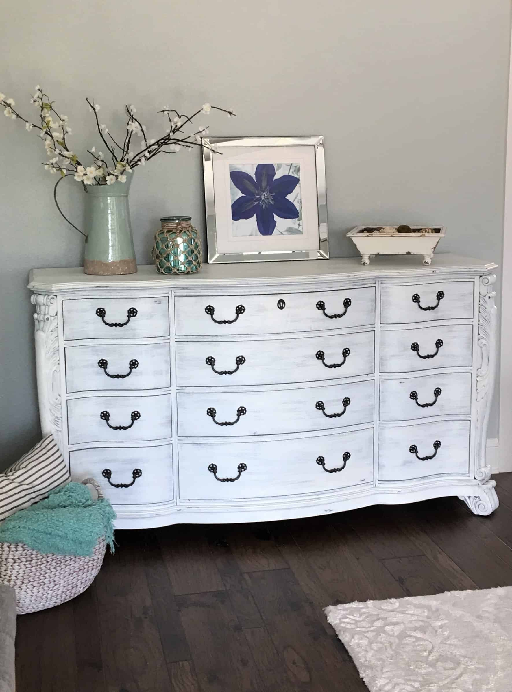 Painting 101 White Washed Dresser Tutorial Thetarnishedjewelblog