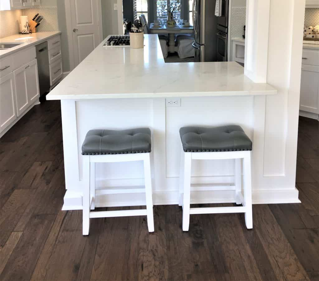 Miraculous Diy Bar Stool Metal Foot Rest Tutorial Hack Onthecornerstone Fun Painted Chair Ideas Images Onthecornerstoneorg