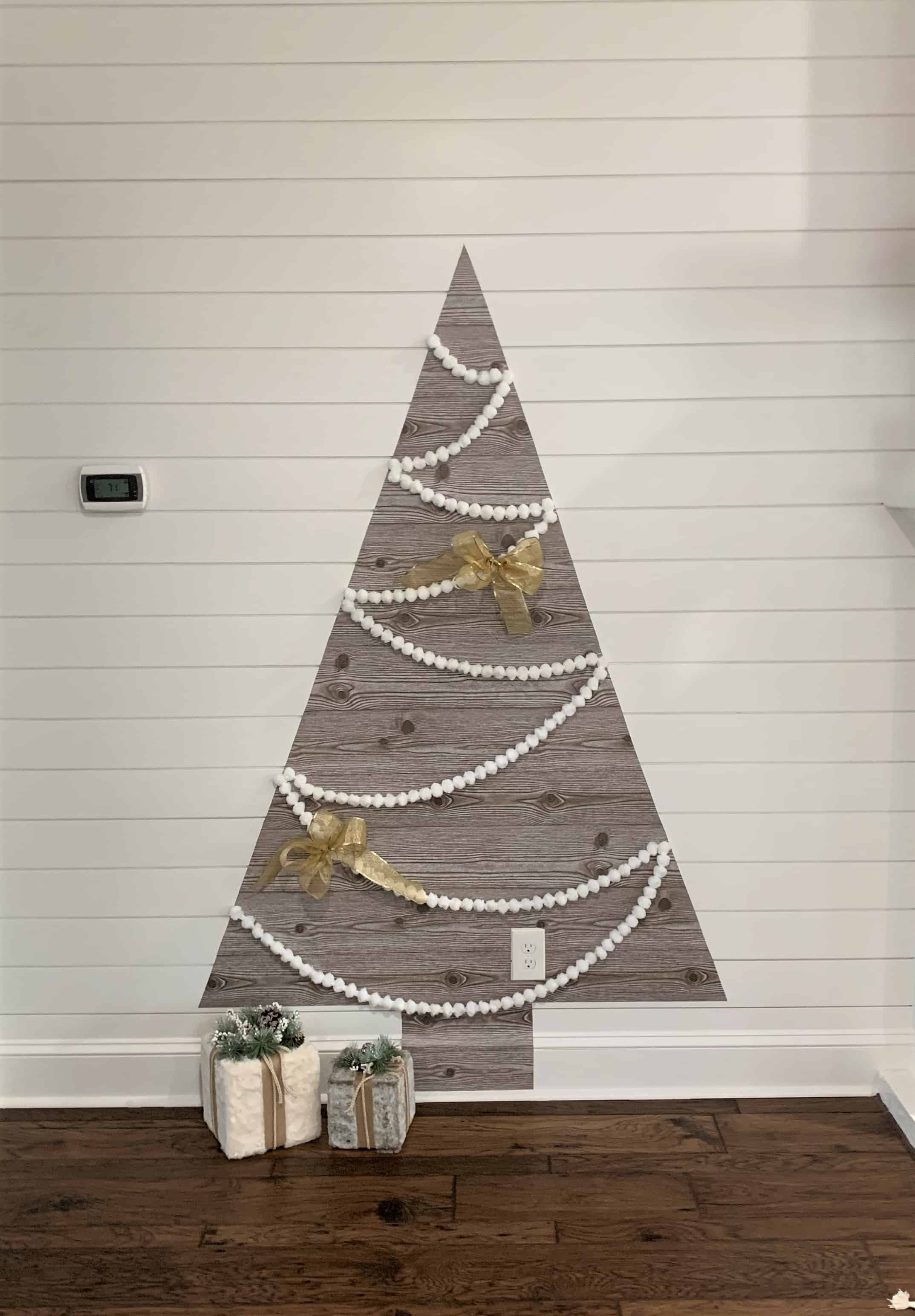 Diy Wall Christmas Tree Tutorial Using Shelf Paper Thetarnishedjewelblog