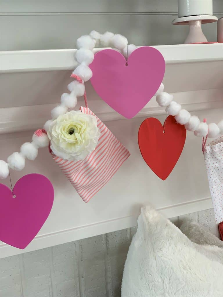 DIY Valentine's Day Mantel Garland Tutorial