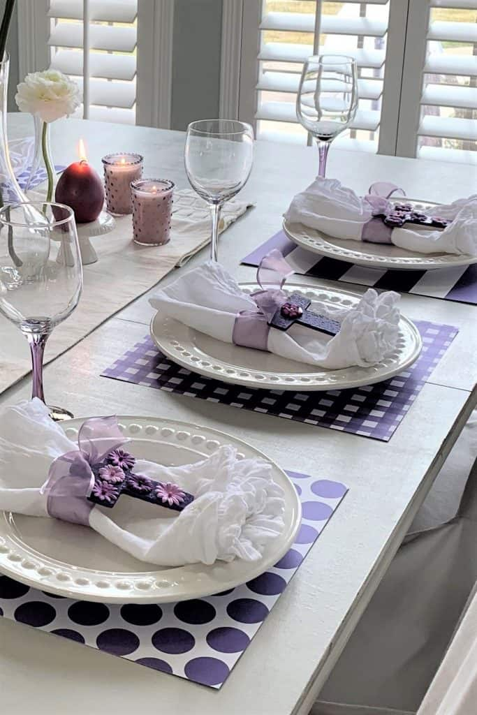 DIY Easter Cross Napkin Rings: Table Setting Ideas