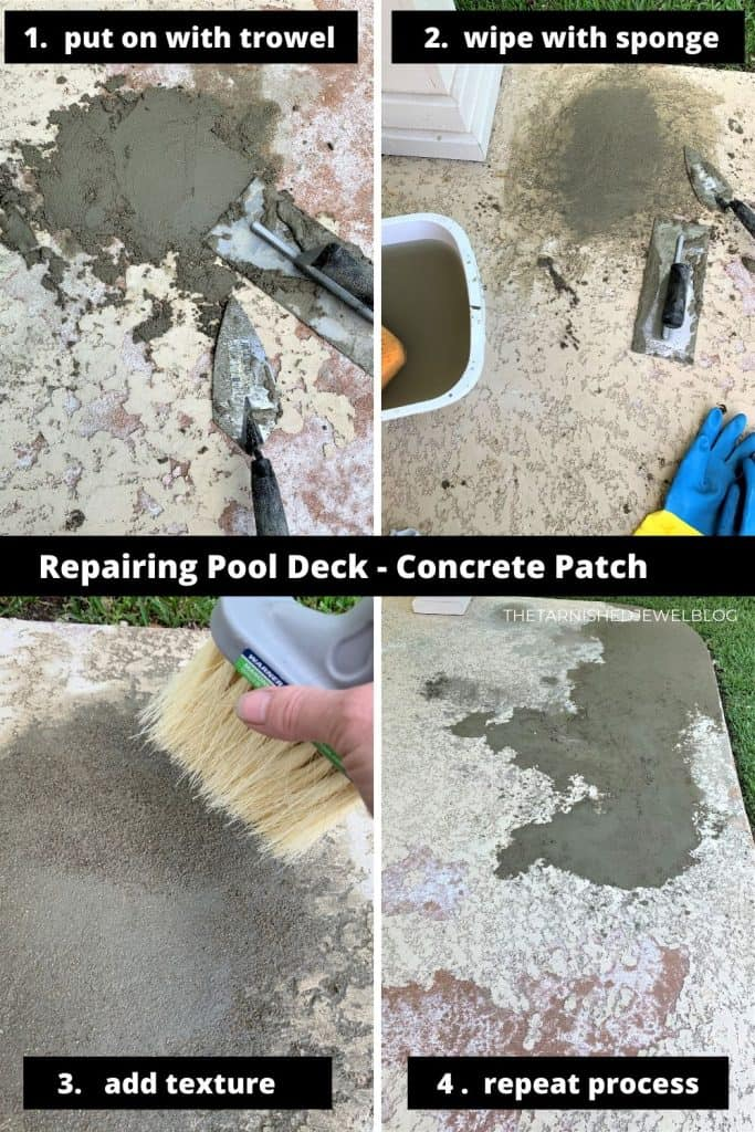 DIY Painting Pool Deck Tutorial