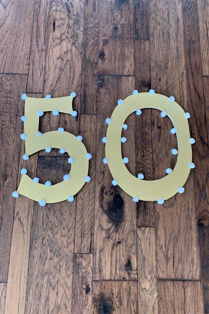 DIY 50th Birthday Ideas: Selfie Frame & Numbers