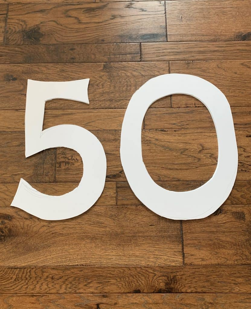 DIY 50th Birthday Ideas: Selfie Frame & Numbers
