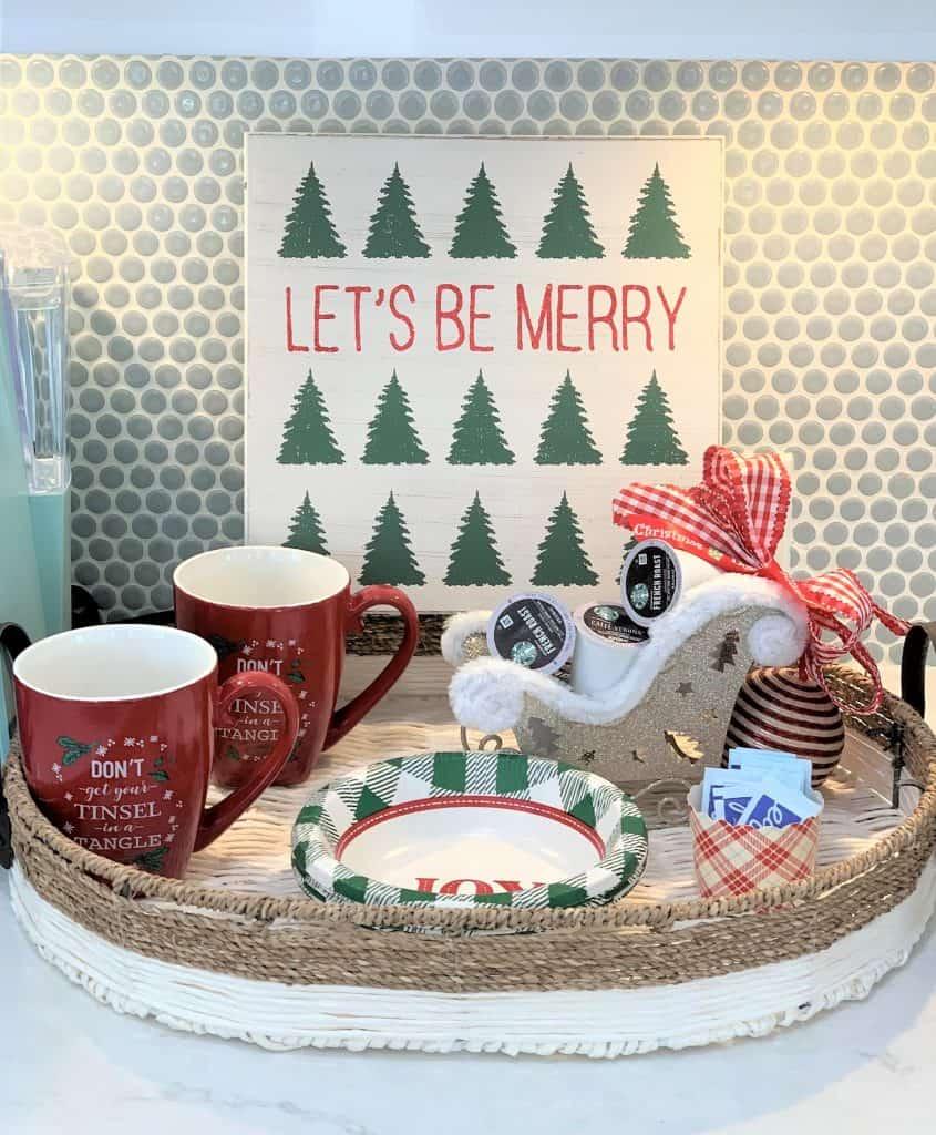 DIY Christmas Coffee and Hot Chocolate Bar