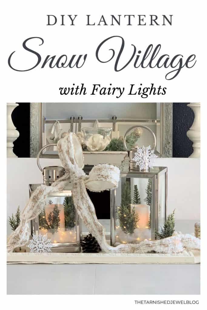 DIY Lantern Snow Village with Fairy Lights
