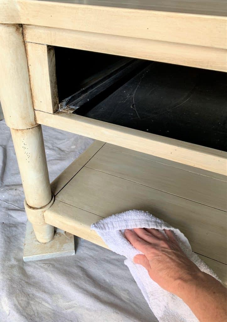 whitewash furniture diy: coffee table makeover
