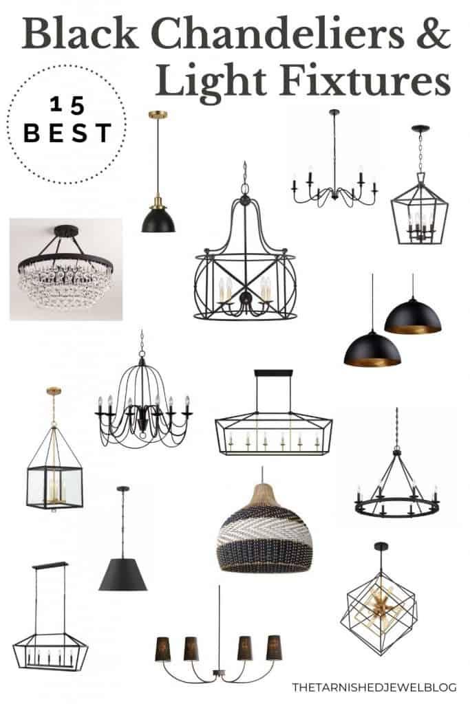 15 best black chandeliers & light pendants