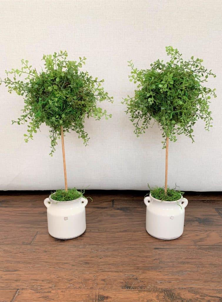 Diy Faux Topiary Trees Quick Easy Thetarnishedjewelblog