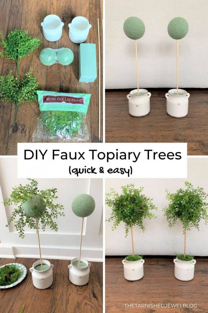 DIY Faux Topiary Trees (Quick and Easy)