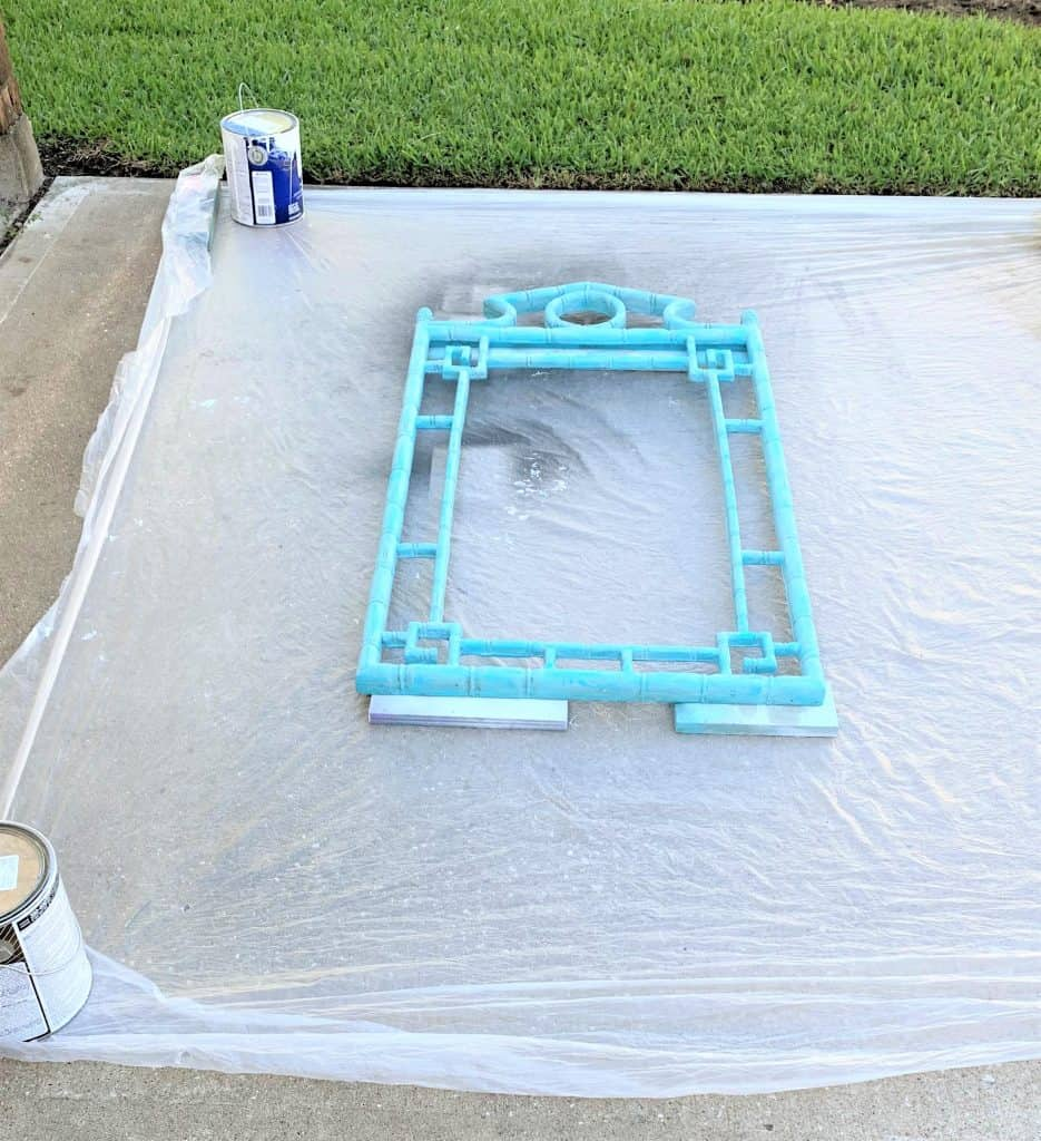 Faux Bamboo Mirror Makeover (Gold Spray Paint)