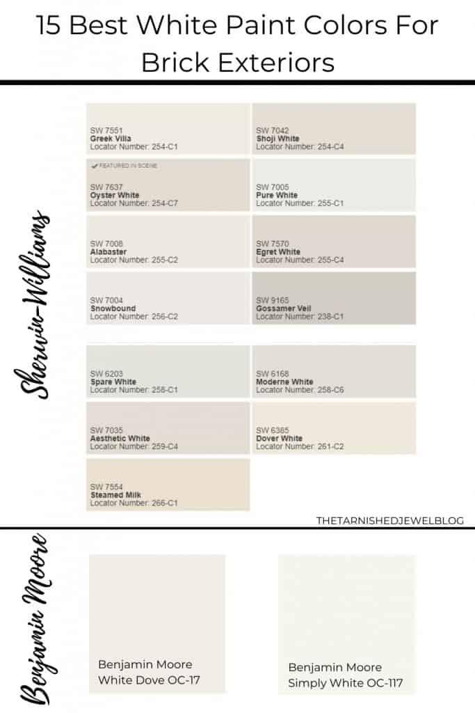 15 Best White Paint Colors For Brick Exteriors