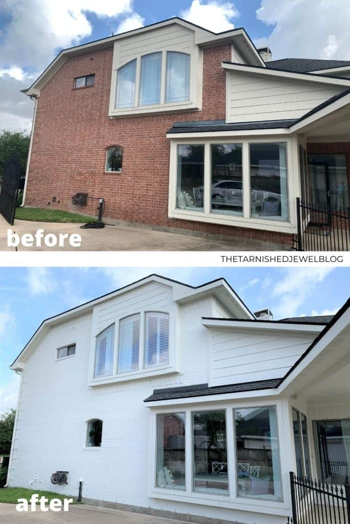 Our White Painted Brick House Makeover (Before & After Pictures)