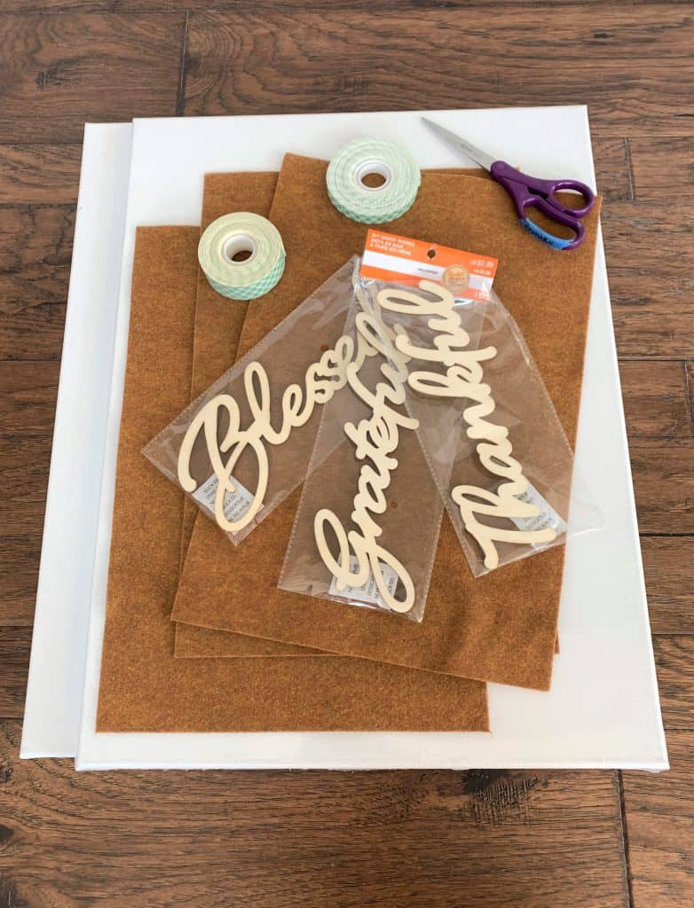 DIY Fall Wall Signs: Thankful Grateful Blessed