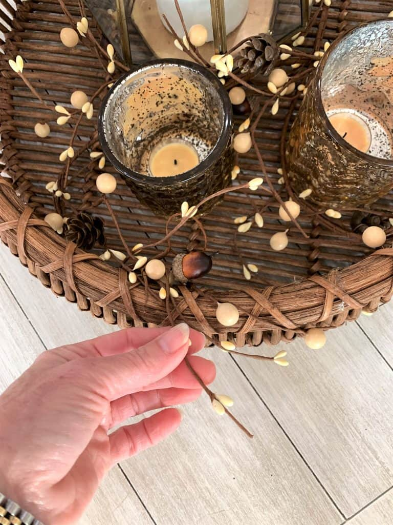 How to Decorate a Fall Coffee Table in 5 Minutes